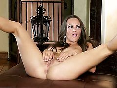 Teal Conrad taking toy in her hole