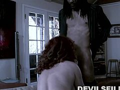 Audrey is a slutty redhead milf, who loves danger and being in the centre of two horny guys' attention, in the same time. Click to watch her naked and bending in a sexy position, to suck the cock of the vampire with dreadlocks, while being banged hard from behind. Enjoy the kinky parody!