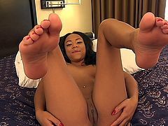 ebony solo foot fetish.