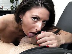 Nikki Daniels satisfies mans sexual desires and then gets dreamed in jizz