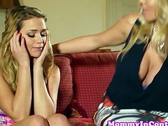 Busty MILF Rebecca More proposes to this hot chick Mia Malkova to have an impromptu threesome as this lucky guy got to fuck this chick with huge tits and hot and hungry pussies.