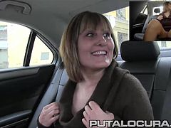 Hot and busty mature latina whore fucked in a fake taxi and can´t have enough!