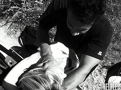 All these young chicks are lost. Several guys stop to give them a ride, but fool them until they bound them and force them to take their cocks deep in their holes.