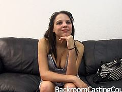 Lydia sucks and fucks on Backroom Casting Couch.