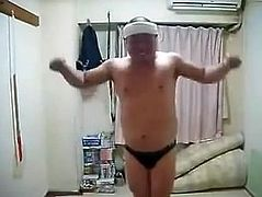 Erotic Horny Japanese Male Dancing