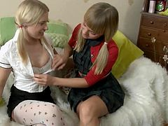 Visit official Totally Blondes's HomepageThis fat toy seems perfect for these two lovely lesbos during their nasty masturbation spectacle on cam