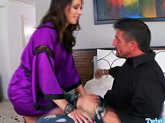 Destiny Dixon enjoys swallowing cum twice in one day.See first how her boyfriend fucks her till he cums in her mouth, but soon her husband come back homes and she is ready to get fucked again.