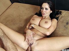This lovely sluttie likes to take a huge cock in her mouth for a suck in a hardcore blowjob and gets her hairy pussy screwed in hot orgasm.