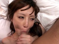 Kaede Fuyutsuki gets her Japanese pussy banged in the cowgirl pose