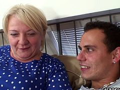 Granny Bet brings you a hell of a free porn video where you can see how this blonde granny gets banged hard by a young stud into a massively intense orgasm.