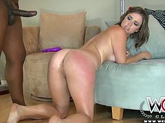 Sierra rides a big fat monster cock with her ass and gets a bons creampie.