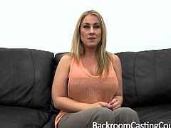 Jessica is not the typical newbie girl. She is confident and she does ass to mouth with pleasure. Her boobs are huge and her cock-sucking skills are not bad either.