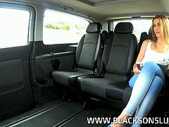 Black On Sluts brings you very intense free porn video where you can see how a sexy brunette gets banged hard inside a van while assuming very naughty positions.