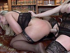 kinky lesbians play with sex toys
