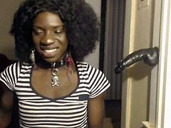 Black tranny with a nice dick on cam