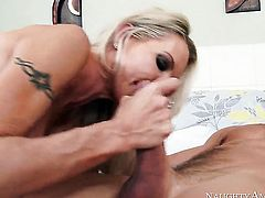Johnny Castle buries his sturdy rod in smoking hot Emma Starrs pussy