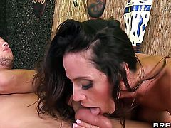 Latin Ariella Ferrera with big hooters wants Danny Mountain stick his boner in her muff pie again