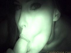Abbie Cat gets fucked and swallow cum private way