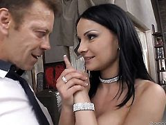 Rocco Siffredi is horny and cant wait any more to screw Abbie Cat in her backdoor