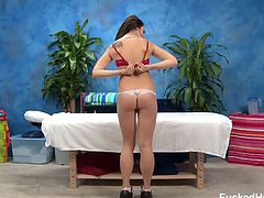 Bailey Blue is a teen who has seen and ad about a free massage session. She went there and got one, but that included a pussy massage as well, which she appreciated.
