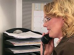 Two MILFs get frisky at the office and engage in all kinds of lesbian sex in this video that you can't miss. Here you will find two niches, MILFs and lesbians, are going to miss it? Watch as these two horny ladies eat each others' twat.