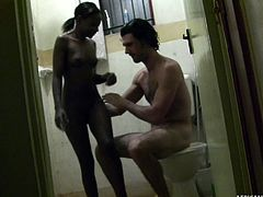 african slut tiny, fucks a white guy