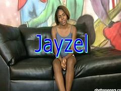 Ghetto slut Jayzel tries her luck in porn