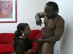 There is hot steamy sex, as Ebony man has his way with chubby prostitute. He fucks her doggy style, until both are ready to cum at the same time.