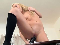 Ally Kay has a lot of sexual energy to spend and does it alone!