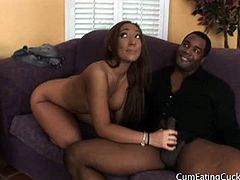 When the neighbor drops by for a little brown sugar, Leona is more than happy to oblige. She has an ulterior motive for her willingness to spread her legs; her biological clock is tick-tick-tickin' and she wants to start pushing out beautiful black babies. Sadly, her husband isn't a well-hung black man, so there are very limited options inside the marriage bed. After all, what kind of woman wants her son born with the kind of shortcomings that her husband has? Leona's babies will be the kind of strong manly men her husband will never be!