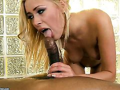 Blonde Teena Dolly has interracial sex of her lifetime