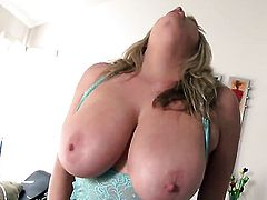 Maggie Green is on the way to orgasm with toy in her hole