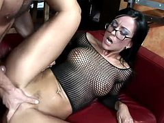 Visit official Fantastic CumShots's HomepageBrunette Simone Style looks amazing with cock pounding her wet vag and jizz covering her needy face in the end