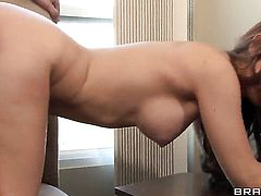 Veronica Vice with gigantic breasts is another fucktoy of hard dicked dude Keiran Lee