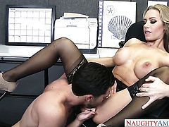 Seth Gamble explores the depth of beautiful Nicole Anistons wet muff pie with his pole