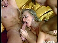 Hot ass lovely porn ladies in a nasty mmf threesome fuck action