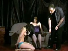 Lesbian domination and spanking of slavegirl Pixie