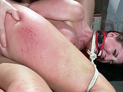 Visit official Bound Gangbangs's HomepageVoluptuous whore spreads legs for these guys and let them damage her tight holes in a smashing group fuck adventure