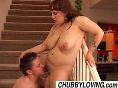 Amateur chubby cutie Juliet wants a change when it comes to her lover and that is to have sex right on the stairs of their house, exploring different positions for their pleasures.