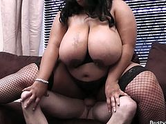 Ebony BBW secretary is always at service when at work or when giving pleasure to her lucky boss as she is willing to give him a free blowjob and titjob plus a sweet fuck.