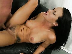 Katie St. Ives shows oral sex tricks to hot blooded man with desire