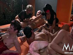 The big orgy of the night has started. Everybody gets satisfied.