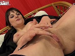 Sophie gets to feel what Larissa can do with her big fat rubber dick.