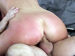 Racy cowgirl in sexy panties thrilled as her pussy gets licked before being screwed doggystyle