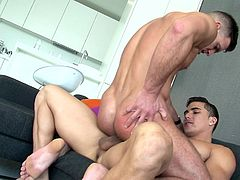 Topher always knows, what Paddy wants. He wants a really good blowjob, before he can shove the dick in his ass. That's why when Topher sucked his asshole and then his balls, Paddy could not keep himself from asking Topher to shove his dick inside his ass. Watch them cum.