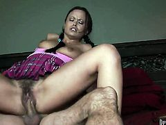 Kaci Starr getting down and dirty in hardcore action with hot guy