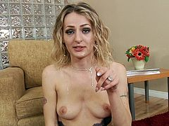 Vivacious blonde milf showcases her big tits in a wild solo model compilation