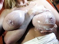 Kelly Madison with gigantic knockers and Ryan Madison have a lot of fun in this steamy action