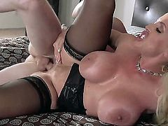 Huge tits slut Alura Jenson fucks her son in law Brick Danger