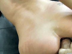 Rocco Siffredi pops out his meat stick to fuck alluring Monica Cs mouth before butthole fucking